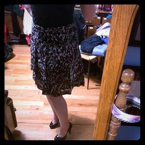 Vintage Black and Grey Skater Skirt XL